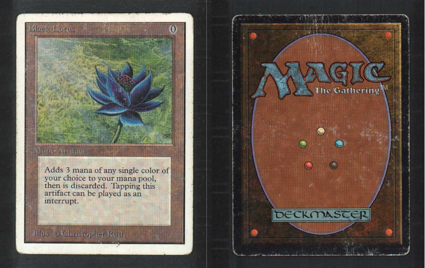 1 black lotus 79 unlimited mtg magic artifact rare