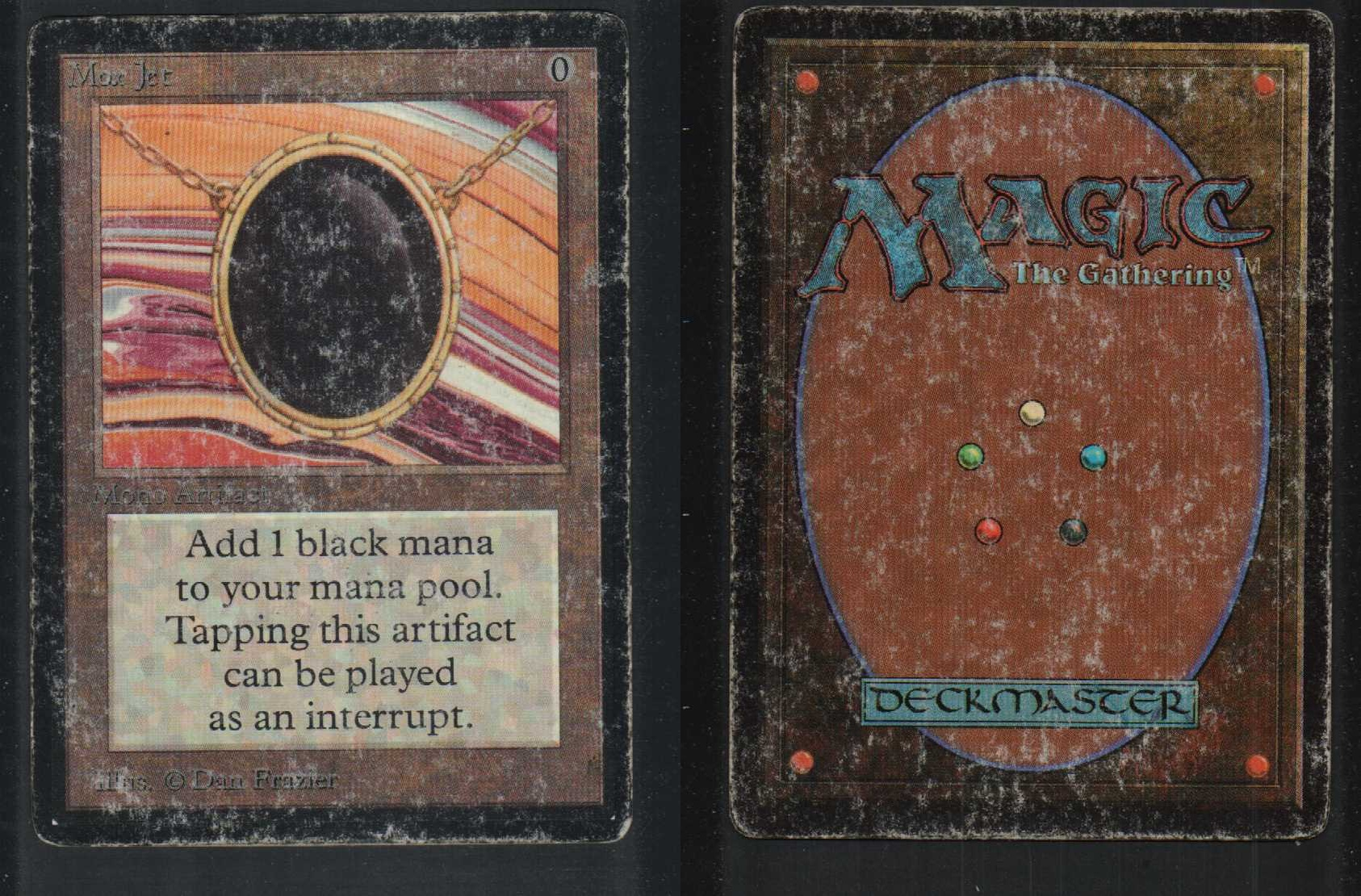 1 mox jet 68 93 94 beta artifact 1x x1 mtg magic rare card ebay. Black Bedroom Furniture Sets. Home Design Ideas