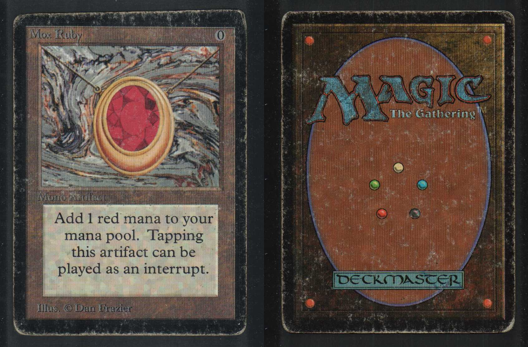 1 mox ruby 73 beta artifact 1x x1 mtg magic rare card ebay. Black Bedroom Furniture Sets. Home Design Ideas