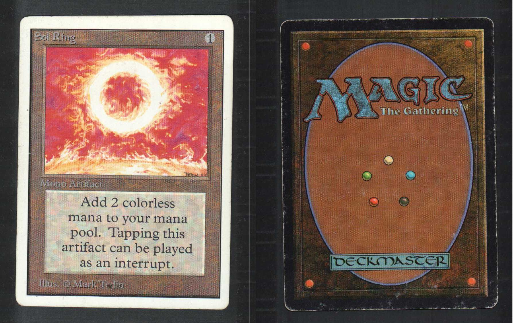 1 Unlimited Sol Ring L04 Artifact RARE MTG Magic The ...