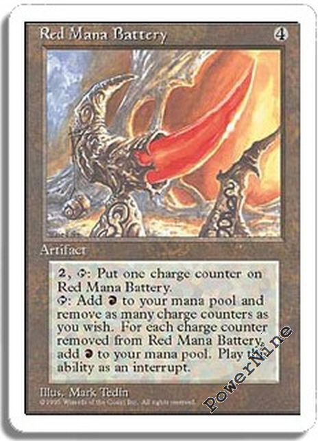 4 Red Mana Battery Artifact Fourth 4th Edition Mtg Magic