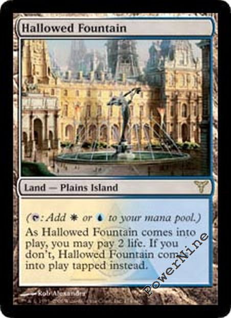 Land Dissension Mtg Magic Rare 1x x1 1 PLAYED Hallowed Fountain