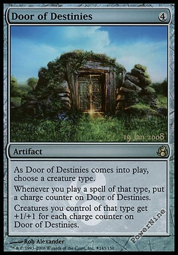 4 promo foil door of destinies auction prerelease events