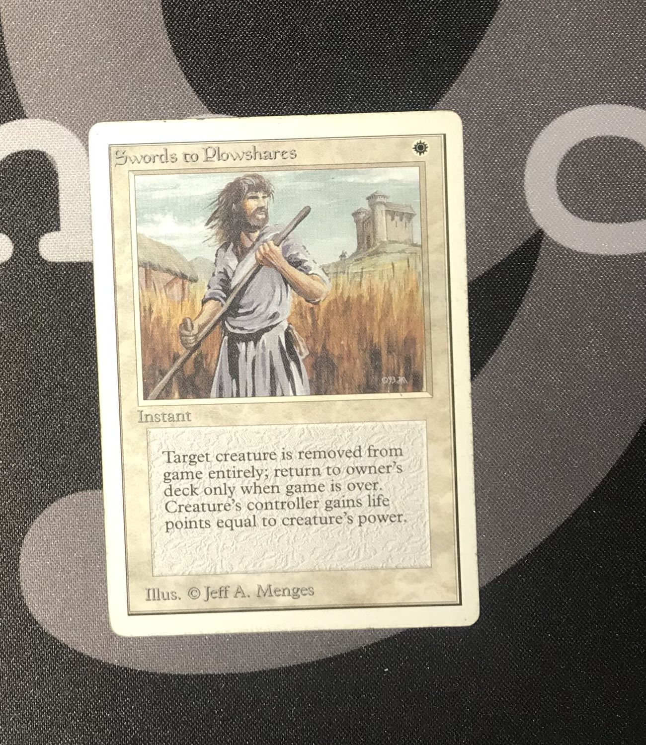 mtg Unlimited Edition SEE IMAGE  MP Swords to Plowshares
