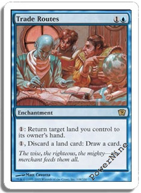 1 Trade Routes = Blue Ninth 9th Edition Mtg Magic Rare 1x x1