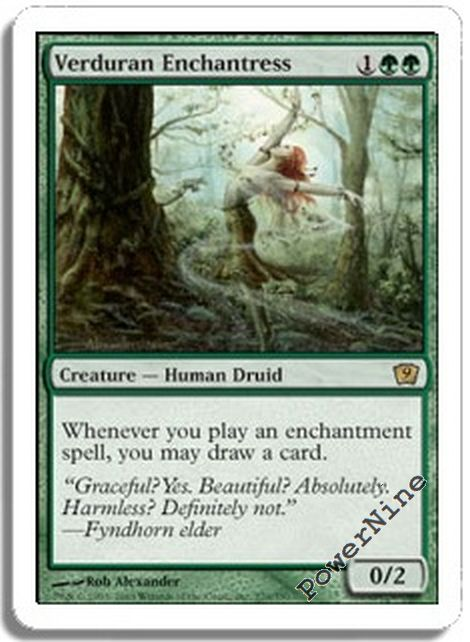 Green 6th Sixth Edition Mtg Magic Rare 4x x4 4 PLAYED Verduran Enchantress