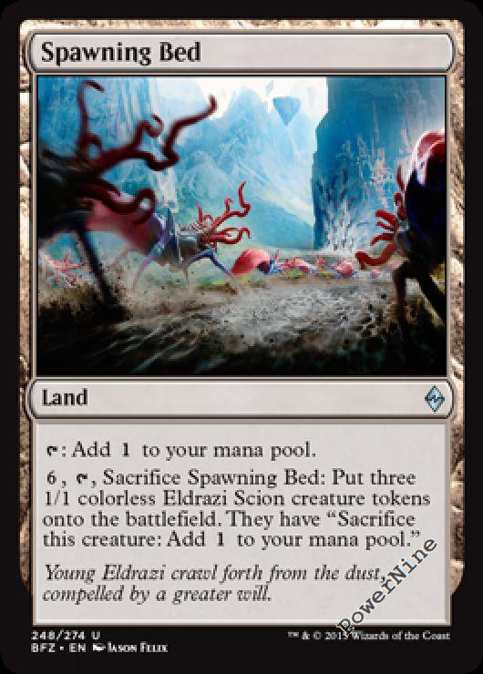 4 x Spawning Bed Near Mint Uncommon Battle for Zendikar