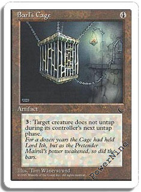 4 Barl/'s Cage = Artifact Chronicles Mtg Magic Rare 4x x4