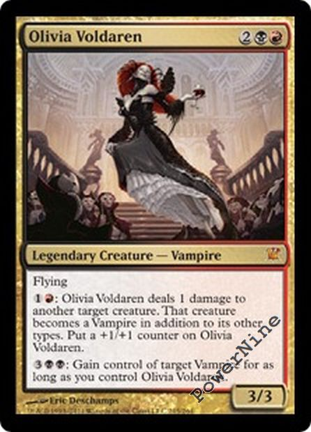 1 PLAYED Olivia Voldaren Gold Innistrad Mtg Magic Mythic Rare 1x x1