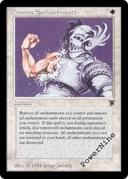 1x Remove Enchantments MTG Legends NM Magic Regular