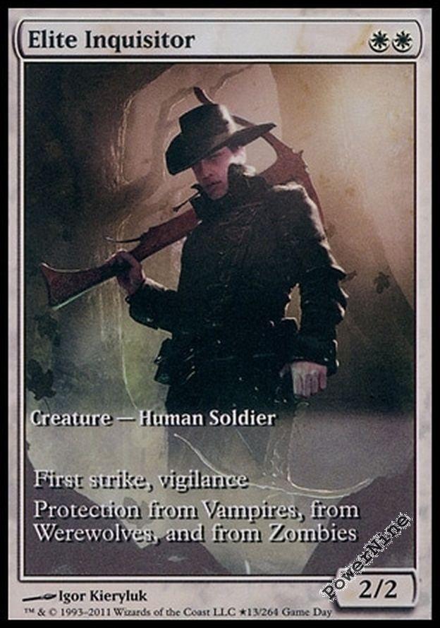 White Game Day Mtg Magic Rare 1x x1 1 PROMO PLAYED FOIL Elite Inquisitor
