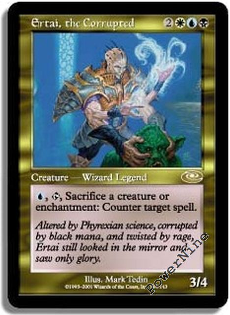 1 Ertai the Corrupted = Gold Planeshift Mtg Magic Rare 1x x1
