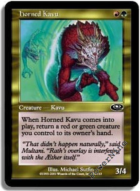 1 FOIL Horned Kavu Gold Planeshift Mtg Magic Common 1x x1
