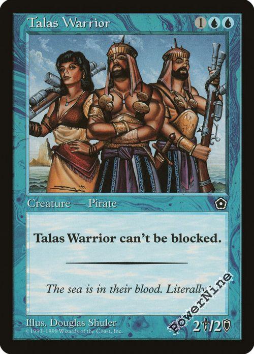 English Portal 1x Talas Warrior NM-Mint Second Age MTG Magic