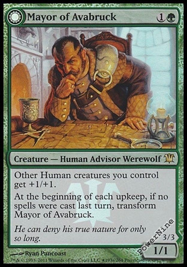 Green Innistrad Mtg Magic Rare 1x x1 1 Mayor of Avabruck