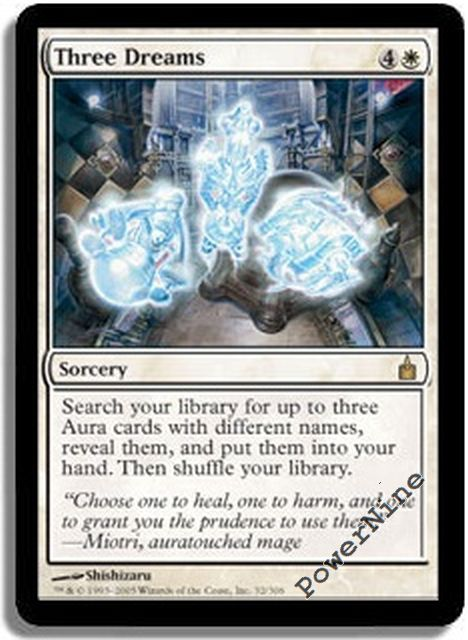 4 PLAYED Three Dreams White Ravnica City of Guilds Mtg Magic Rare 4x x4