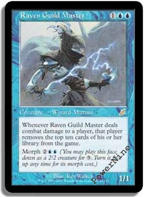 1 PLAYED Raven Guild Master Blue Scourge Mtg Magic Rare 1x x1