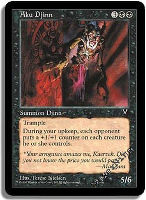 4x Sulam Djinn MTG Invasion NM Magic Regular