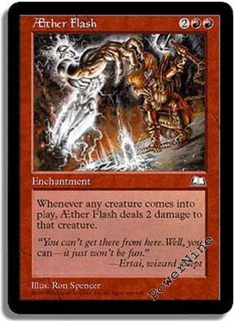 Aether Flash MTG Weatherlight Magic Card